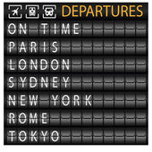 Departure Board — Stock Vector