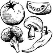 Healthy Foods — Stock Vector