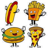 Fast Food Characters — Stock Vector