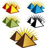 Pyramid Icon Set — Stock Vector