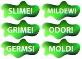 Slime icon set — Stok Vektör