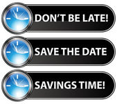 Save The Date Time Button — Stockvector