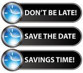 Enregistrez le bouton time date — Vecteur