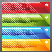 Eğik çizgi web bannerlar — Stok Vektör