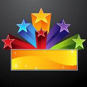 Bannière étoile filante — Vecteur