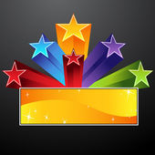Shooting Star Banner — Stock Vector