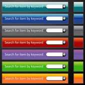 Search Bar Menu Set — Stock Vector