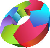 Proces cyklu - ve směru hodinových ručiček — Stock vektor