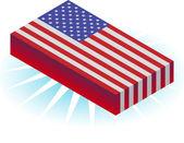 3D Flag — Stock Vector