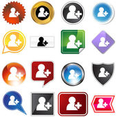 Add Friend Icon Set — Stock Vector