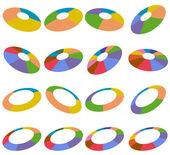 Angled Wheel Hubs — Stock Vector