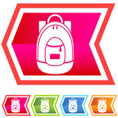 Backpack Set - Neon — Stock Vector