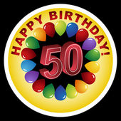 Happy 50th Birthday! — Stock Vector