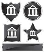 Black Satin - Bank — Stock Vector