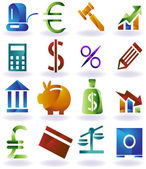 Banking Buttons — Stock Vector