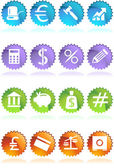 Banking Buttons - 4 Color - Seal — Stock Vector