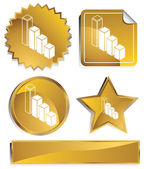 Gold - Bar Graph — Stock Vector
