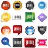 Barcode Label Set — Stock Vector