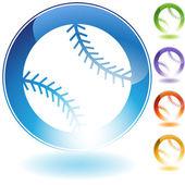 Baseball-ikone — Stockvektor