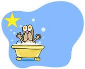Dog Bath Star - Hound Dog — Stock Vector