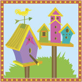 Bird Houses — Stock Vector