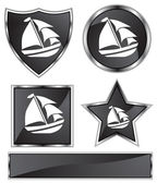 Boat Icon Set — Stock Vector