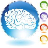 Brain Crystal Set — Stock Vector