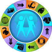 Web Themed Icon Set — Stock Vector