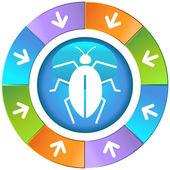 Bug Icon Set — Stock Vector