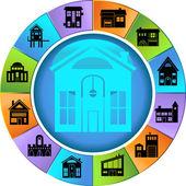 Housing Wheel — Stock Vector