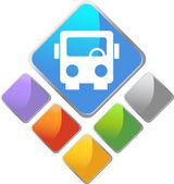 Bus Diamond Icon — Stock Vector