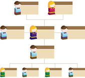 Diversity Organizational Chart - Children — Stock Vector