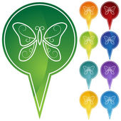 Schmetterling-symbol — Stockvektor