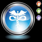 кадуцей медицинский символ — Cтоковый вектор