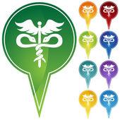 Symbole médical caduceus — Vecteur
