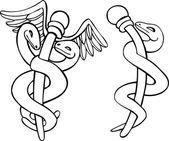 Medizinische symbol caduceus — Stockvektor