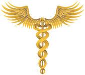 Caduceus sağlık sembol — Stok Vektör