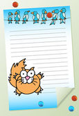Cat with Birds Notepad — Stock Vector