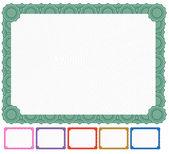 Blank Certificate - Set — Stock Vector