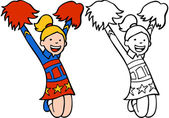 Girl in Cheerleader Outfit — Stock Vector