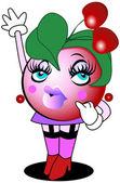Cherry Character — Stock Vector