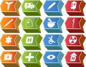Medische pictogrammenset — Stockvector