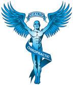 Chiropractic Symbol - Blue — Stock Vector