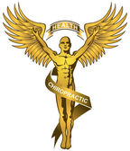 Chiropractic Symbol - Gold — Stock Vector