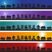 Neighborhood Banner — Stock Vector