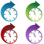 Tiempo hacia delante — Vector de stock