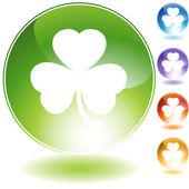 Ikona zielona koniczyna — Wektor stockowy