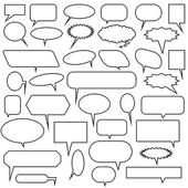 Chat Bubble Icon Set — Vetor de Stock