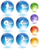 Contortionist Crystal Set — Stock Vector