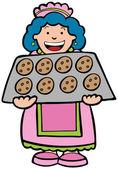 Baking Cookies — Stock Vector